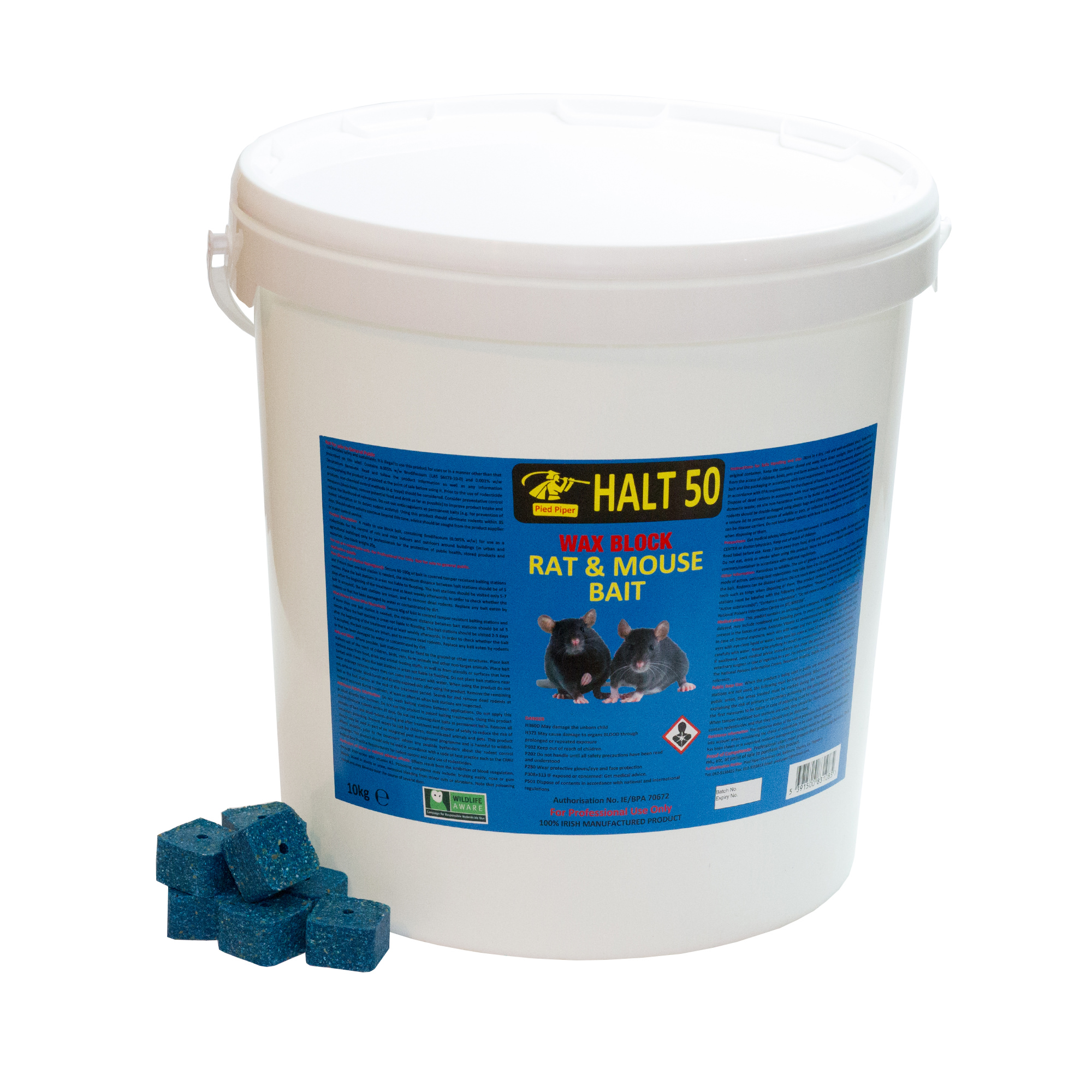 Rat Bait - Wax Block 10kg